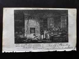 Wonderful Museum C1805 Print. Once Elegant Dining Room in a Dirty Warehouse